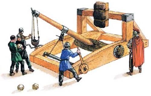 древняя катапульта