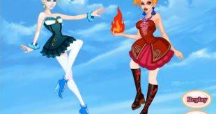 Игра одевалка - Огонь и вода