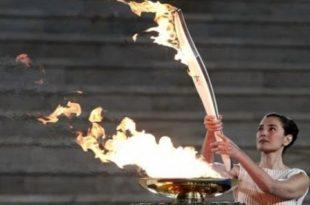 когда впервые был зажжен олимпийский факел